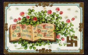 Shakespeare Quote Postcard Clover Good Luck Emblem 1909 B  Hofmann  PC