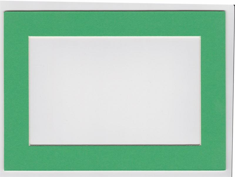 Custom Cut Postcard Mat Fits 5x7 Frame GREEN