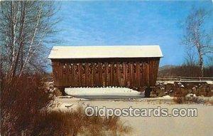 Covered Bridge Andover, NH, USA Unused