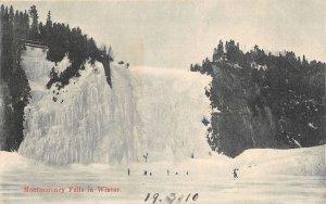 br105724 winter  montmorency falls  canada  quebec