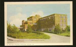 Canada Vintage St Michaels Hospital Lethbridge Alberta Photogelatine Postcard