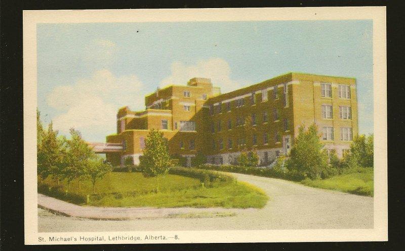 Canada Vintage St Michaels Hospital Lethbridge Alberta Photogelatine Postcard