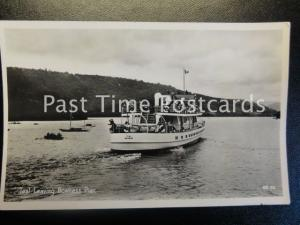 Cumbria LAKE DISTRICT The Ferry 'TEAL' Leaving Bowness Pier - Old RP Postcard