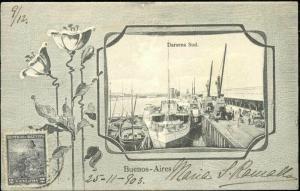 argentina, BUENOS AIRES, Darsena Sud, Harbour Scene (1903) Stamp