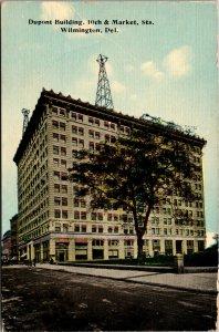 Vtg 1910s Dupont Building 10th & Market Street Wilmington Delaware DE Postcard