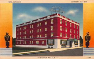 Hotel Dearborn, Dearborn, Michigan, Early Linen Postcard, Unused