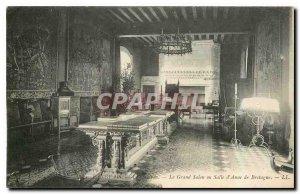 Old Postcard The Chateau Le Grand Salon or room of Anne de Bretagne Langeais