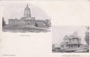 The State House and Governor's Residence,  Topeka,  Kansas,00-10s