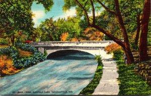 Indiana Indianapolis Garfield Park Bridge Over Bean Creek 1944
