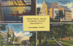 Multi View Greetings From Florida State University Tallahassee Florida 1958