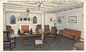 Syracuse New York~B F Keiths Theatre~Gentlemen's Lounging Room~1920s Postcard
