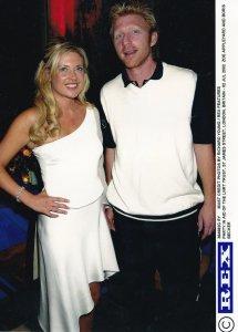 Boris Becker Germany Zoe Appleyard LNRT Trust Party 2002 Tennis Press Photo