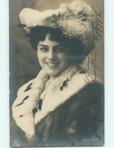 1906 rppc GERMAN POSTCARD - PRETTY ACTRESS NAMED JOLLY DOLLY r6368