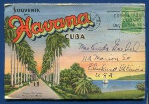 Havana Cuba 1940s Hotel Nacional Marianao Beach postcard folder