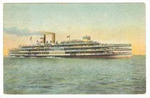 Steamship  HENDRICK HUDSON  Hudson River Day Line,  New York PU-1912