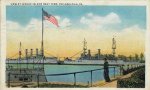 View at League Island Navy Yard, PHILADELPHIA, Pennsylvania, PU-1921