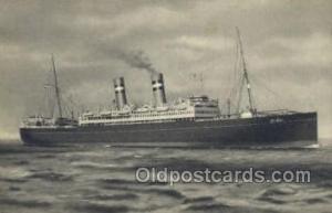 SS Veendam Holland - America Line, Steamer, Steam Boat, Ship Ships, Postcard ...