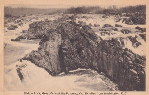 VIRGINIA, PU-1920; Middle Rock Great Falls of the Potomac, 15 MIles from Wash...