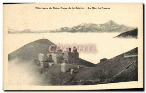 Old Postcard Pilgrimage of Our Lady of La Salette The sea of clouds