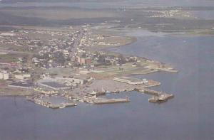 Aerial View of Complexe Portuaire, De La Ville De Shippagan, New Brunswick, C...