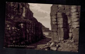 Mint Postcard Ireland County Antrim Gate Giant's Causeway RPPC