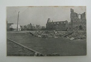 YMCA San Francisco After 1906 Fire Douglass Post Card Co UDB