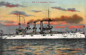 U.S. Battleship Vermont, Early Postcard, Unused, Published by Britton & Rey