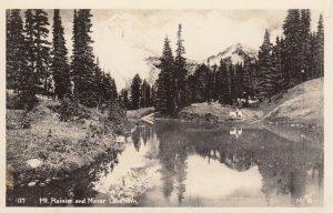 RP: Mt Rainier & Mirror Lake , Washington , 1930-40s
