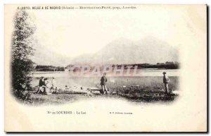 Old Postcard Lourdes Lake
