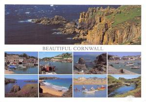 Beautiful Cornwall Multi View Postcard Bude Looe Padstow Land's End Mullion 27E
