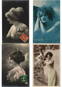 LADIES FEMMES ROMANTIC GLAMOUR 1000 REAL PHOTO CPA (Part 2.) (L2958)