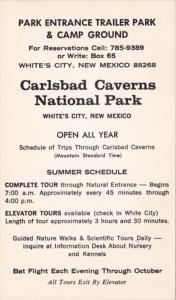 New Mexico White's City Carlsbad Caverns Park Entrance & Trailer Park & Camp ...