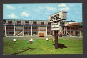 ME Sunrise Motel By the Sea YORK BEACH MAINE Postcard