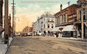 [SOLD] Victoria BC~Government Street~Barber Bros Novelties~Victoria Printing Pub