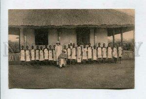 426521 BELGIUM Red Cross Mission Congo Pawa Vintage postcard