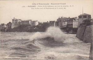 The Farther End Of Rochebonne On A Stormy Day, Parame, France, 1900-1910s