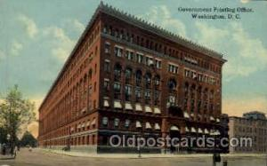 Government Printing Office Washington, DC, USA Postcard Post Cards Old Vintag...