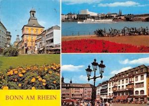 Bonn am Rhein Schiff Bruecke, Bridge River Boat Bateau Metropol Strasse