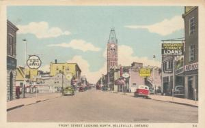 BELLEVILLE , Ontario, Canada, 1930s ; Front Street Looking North