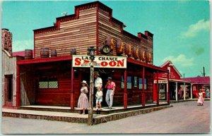 Oklahoma City OKC Postcard FRONTIER CITY, U.S.A. Last Chance Saloon ROUTE 66