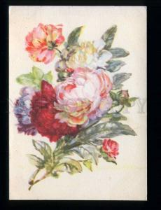 212370 RUSSIA Hvostenko peonies Postal Stationery old postcard