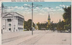 Spadina Avenue Military Hospital Toronto Postcard