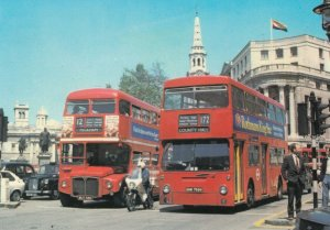 LONDON , England , 50-70s; Two generations of bus types; Routemaster & Fleetline