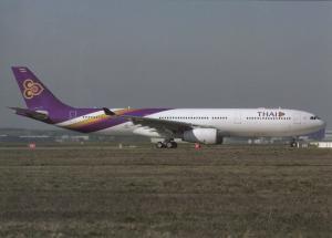 THAI INTERNATIONAL, A330-343E, unused Postcard