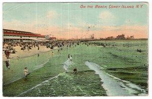 Coney Island, N.Y., On The Beach