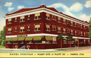 Florida Tampa Hotel Puritan 1946 Curteich