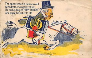 Advertising Post Card Happy Thought Postal Used Unknown