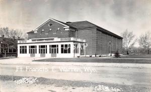 Wyoming Wy Real Photo RPPC Postcard 1942 EAST WARREN Ft Francis Theatre