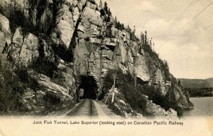 Canada - ON, Lake Superior. Jack Fish Tunnel on Canadian Pacific RR