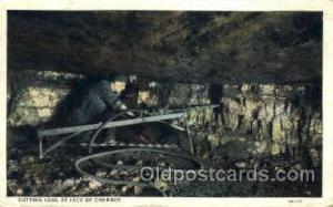 Cutting coal at face of chamber Mine, Mining, Postcard Postcards  Cutting coa...